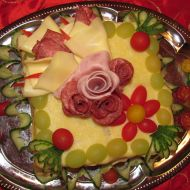 Slavnostní slaný dort recept