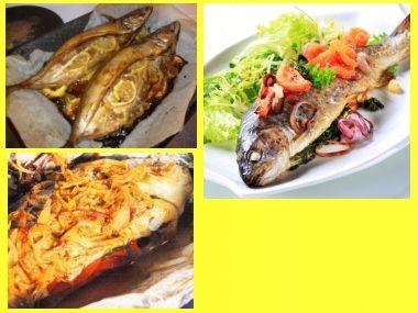 Grilované plněné ryby