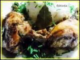 Pečená kuřecí stehýnka s bobkem a sušenými houbami recept ...