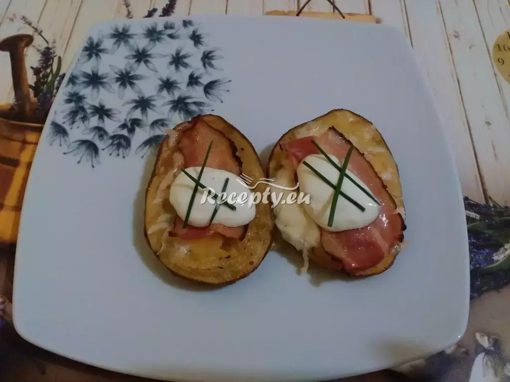 Plněné pečené brambory recept  bramborové pokrmy