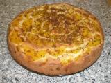 Broskvová bublanina v dortové formě recept