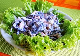 Salát z červeného zelí s mákem recept