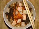 Mioshiru /tradiční japonská polévka/ s třemi druhy ryb. recept ...