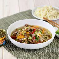 Pikantní polévka s hlívou ústřičnou a vepřovým masem recept ...