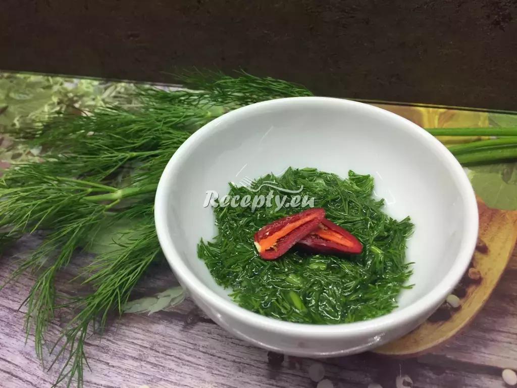 Koprová marináda recept  marinády na maso