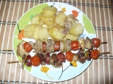 Špízy s brambory (2v1) recept