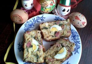Kopřivová velikonoční nádivka s vejci