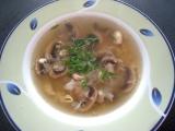Nedělní žampionová polévka recept