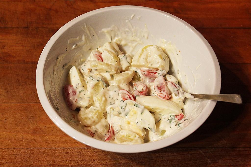 Tatarský bramborový salát recept