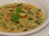 Panádlová kapustová polévka s liškami recept