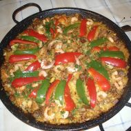 Paella s plody moře recept