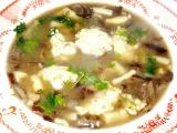 Houbovo  fazolková polévka se sýrovými nočky recept ...