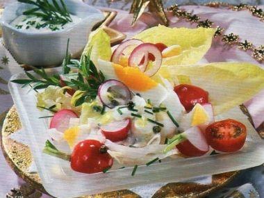Čendův salát z čekankových puků