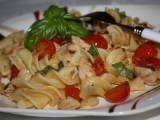 Penne s rajčaty a bazalkou recept