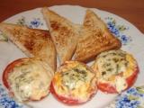 Plněná rajčata s vaječnou směsí a Nivou recept
