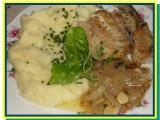 Hejk s přelivem z cibule, česneku a tymiánu recept