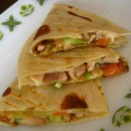 Tortilly s kuřecím masem recept