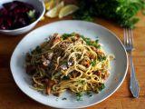 Rychlé smetanové houby s těstovinami recept