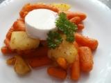 Kořeněná baby mrkev s kozím sýrem recept