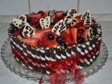 Slavnostní čokoládový dort s ovocem recept