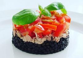 Černá čočka s tuňákem recept