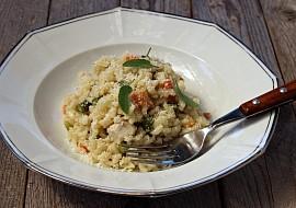 Rizoto z celozrnné rýže recept