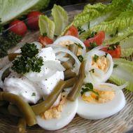 Salát z fazolkových lusků se smetanou recept