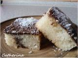 Kefírová buchta s kokosem a čokoládou recept
