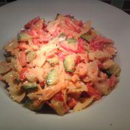 Těstovinový salát se super zálivkou recept