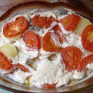Kuřecí zapečené s brambory a čerstvými rajčaty recept