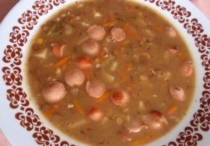 Zeleninová polévka (nejen) s čočkou