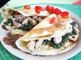 Palačinky plněné špenátem a kuřecím masem recept