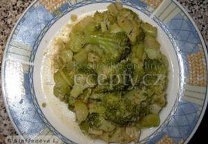 Pečená brokolice se zázvorem