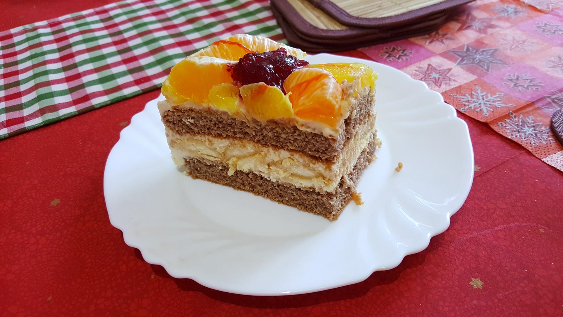 Tvarohový dort s ovocem od Aly recept
