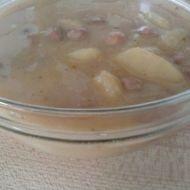 Polévka s fazolí, klobásou a bramborem recept
