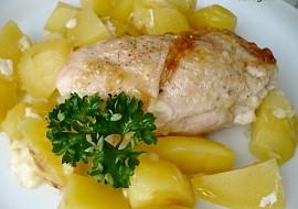 Kuřecí rolky pečené s bramborami  dietní recept