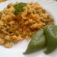 Hrášková rýže na červeno recept
