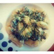 Bramborové noky s kuřecím masem a špenátem 1 recept