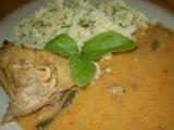 Kuře s hlívovou omáčkou a fazolkou recept