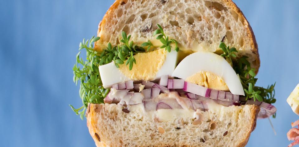 Vajíčkový sendvič s řeřichou