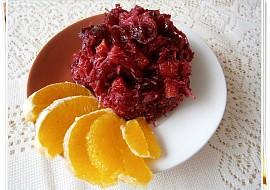 Salát z červené řepy s pomerančem a brusinkami recept ...