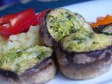 Zapečené žampiony s brokolicí a gorgonzolou recept