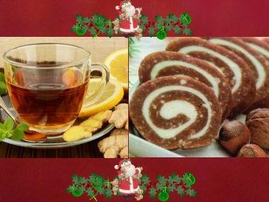 Vánoční čaj a nepečená roláda