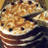 Karamelový dort s lískovými oříšky recept