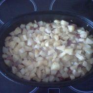 Zapékané brambory s kabanosem recept