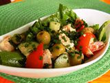 Mangoldový salát s tofu a zeleninou recept