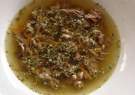 Vývar z dvojího masa s játrovou rýží recept
