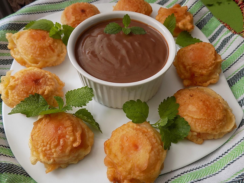 Meruňky v těstíčku s čokoládovým krémem recept