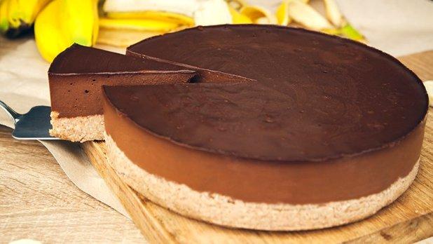 Čokoládovo-banánový raw dort