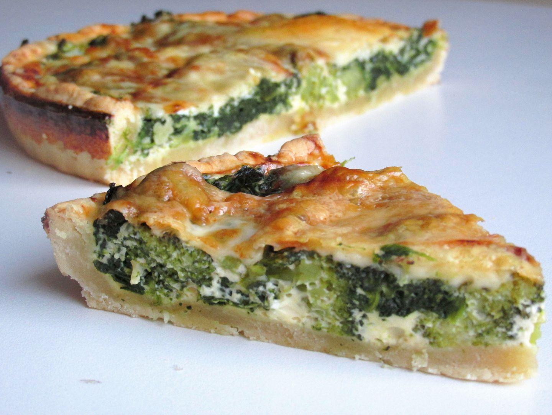 Quiche se špenátem a brokolicí recept